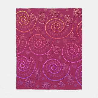 Abstract Swirls Fleece Blanket
