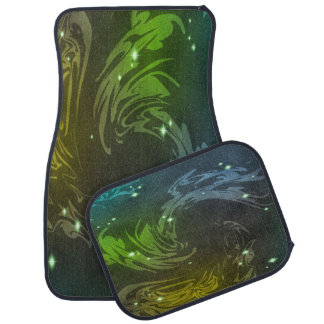 Abstract Swirls Floor Mat