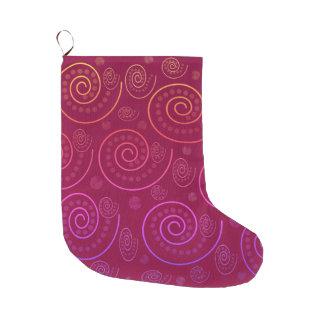 Abstract Swirls Large Christmas Stocking