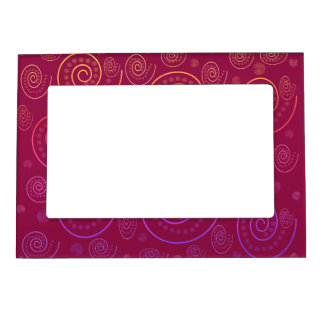 Abstract Swirls Magnetic Frame