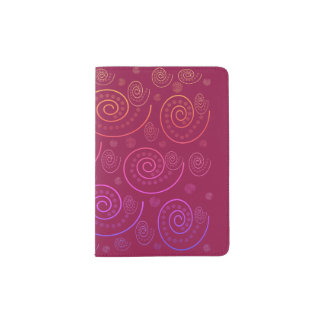Abstract Swirls Passport Holder