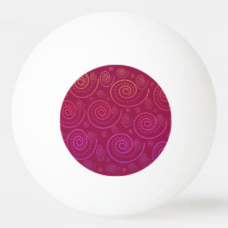 Abstract Swirls Ping Pong Ball
