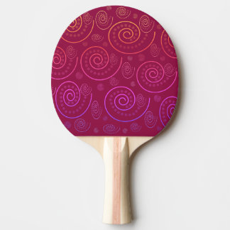 Abstract Swirls Ping Pong Paddle