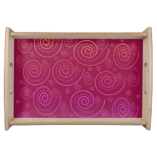 Abstract Swirls Serving Tray