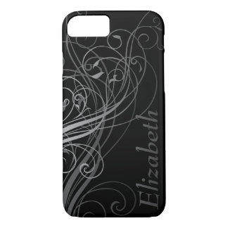 Abstract Swirls with Area for Name iPhone 7 Case