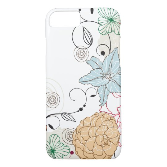 Abstract Swirly Floral iPhone 7 Case