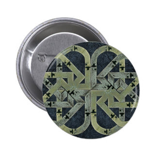 Abstract Symbol Composition 6 Cm Round Badge
