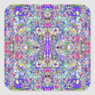 Abstract Symmetrical Colors Square Sticker