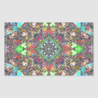 Abstract Symmetry of Colors Rectangular Sticker