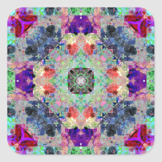 Abstract Symmetry of Colors Square Sticker