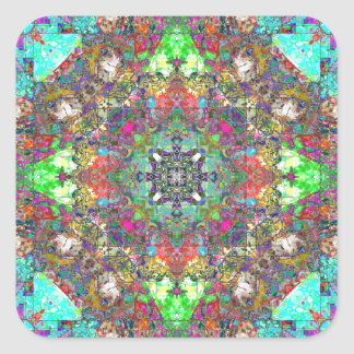 Abstract Symmetry of Colors Stickers