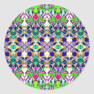 Abstract Symmetry of Colors Round Sticker