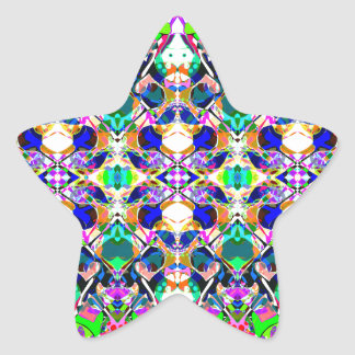 Abstract Symmetry of Colors Star Sticker