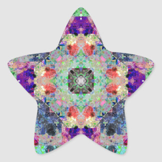 Abstract Symmetry of Colors Star Stickers