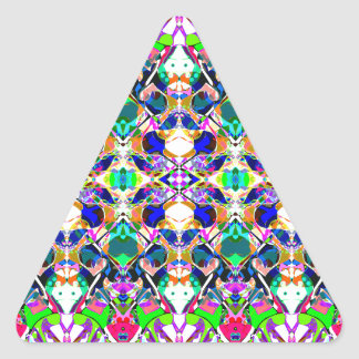 Abstract Symmetry of Colors Triangle Sticker