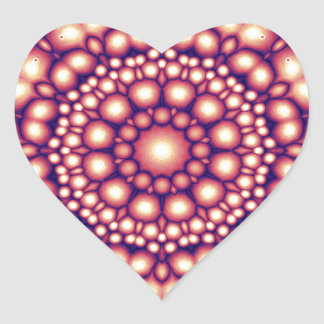 Abstract Symmetry of Golden Shapes Heart Sticker