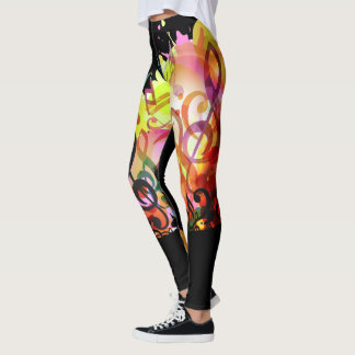 Abstract Symphony of Music Leggings