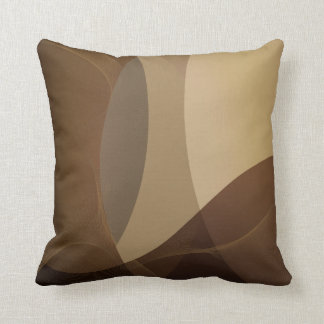 Abstract Tan and Brown Pattern Cushion