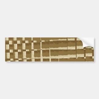 Abstract Tan Mosaic Tiles Brown Camo Pattern Bumper Sticker