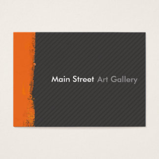 Abstract Tangerine Brushstroke modern Professional Business Card