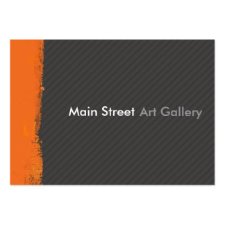 Abstract Tangerine Brushstrokes Painted Wall Pack Of Chubby Business Cards