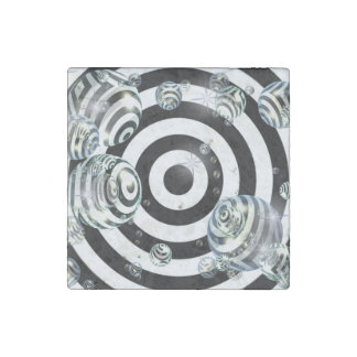 Abstract Target Stone Magnet