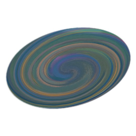 Abstract Teal Blue Swirl Pattern Plate