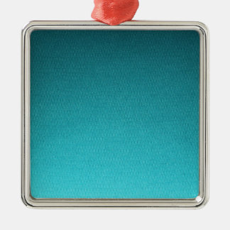 Abstract Teal Gradient Pattern Christmas Ornament