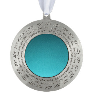 Abstract Teal Gradient Pattern Round Ornament