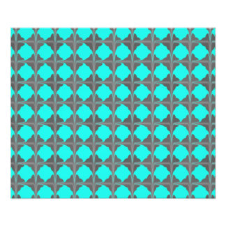 Abstract Teal Gray Quatrefoil Pattern Photograph