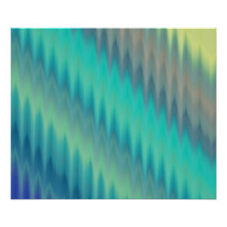 Abstract Teal Green Ikat Chevron Zigzag Art Photo