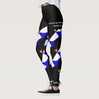 Abstract Team/Club Leggings with Fake Shorts