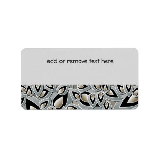Abstract Teardrop Leaf Address Label