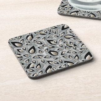 Abstract Teardrop Leaf Cork Coaster