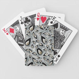 Abstract Teardrop Leaf Playing Cards