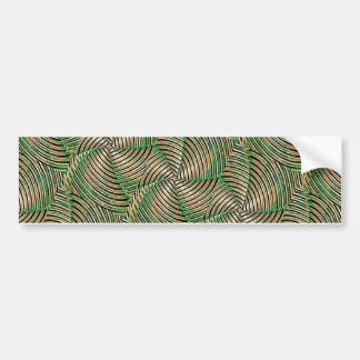 Abstract Tech Pattern Bumper Stickers
