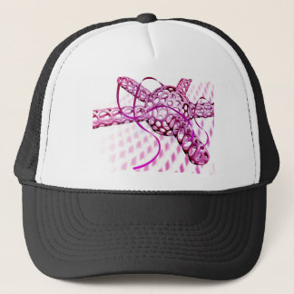 Abstract technology trucker hat