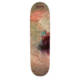 Abstract Tender Pastel Colors Cool Wool Imitation Custom Skate Board