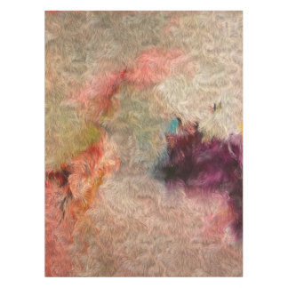 Abstract Tender Pastel Colors Cool Wool Imitation Tablecloth