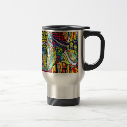 Abstract Tennis Artwork Travel Mug