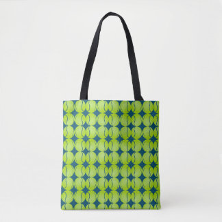 Abstract Tennis Ball Sports Pop Art Tote Bag