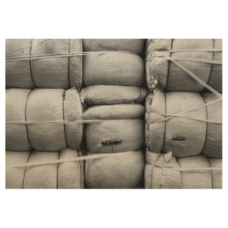Abstract Texture Black and White Sacks Wood Poster