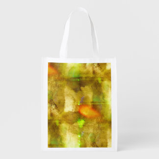 abstract texture color seamless brown, green reusable grocery bag