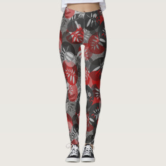 Abstract texture of spirals and leaf leggings