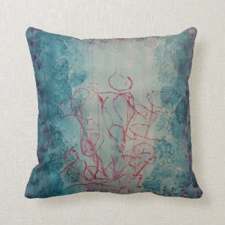 Abstract texture print design cushion