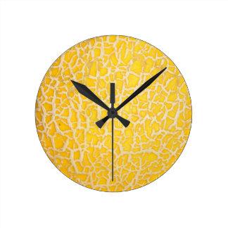 Abstract texture wall clock