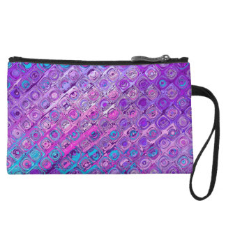 Abstract Textured Colorful Purple Pattern Clutch