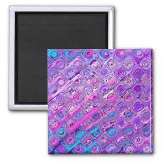 Abstract Textured Colorfull Pattern Magnet