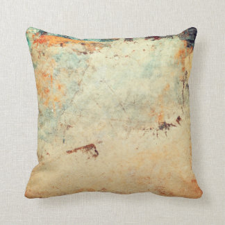 Abstract Textured Pillow in Orange and Peach