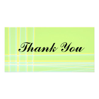 Abstract Thank You Photocard Picture Card